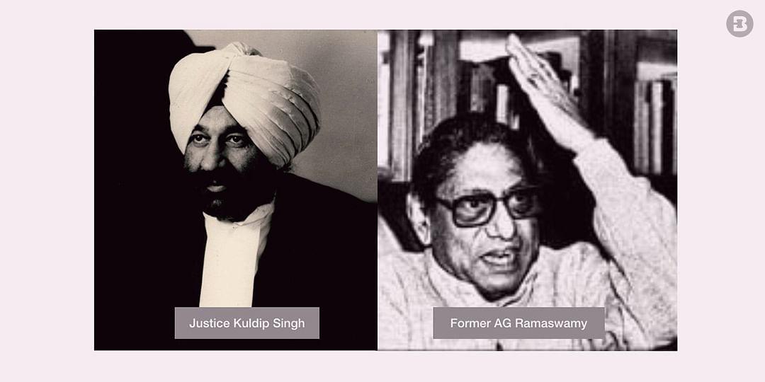 Justice Kuldip Singh, G Ramaswamy