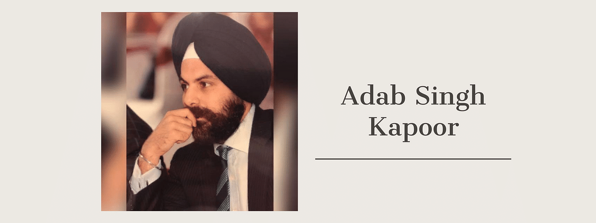Perseverance is key: Adab Singh Kapoor on being a first-generation lawyer
