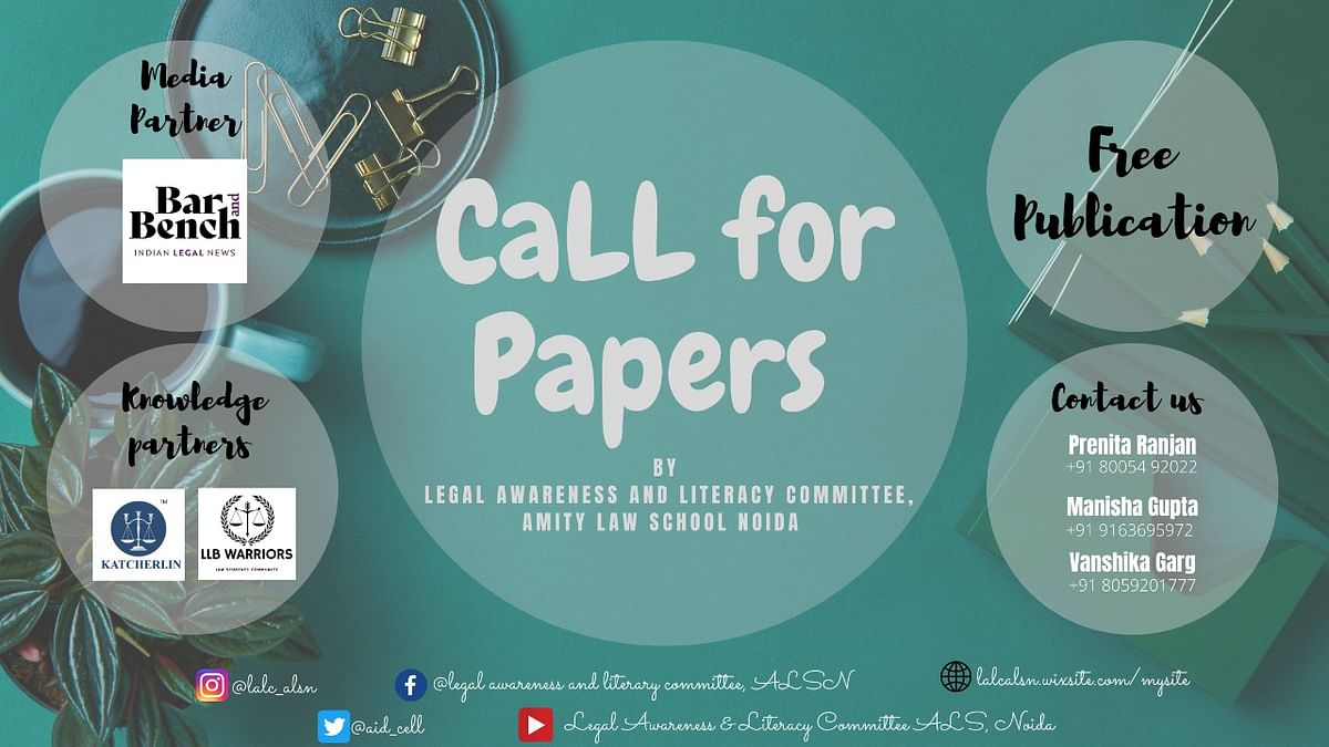 Call for Papers: Amity Law School, Noida's LALC e-Book (Submit abstract by Sept. 20)