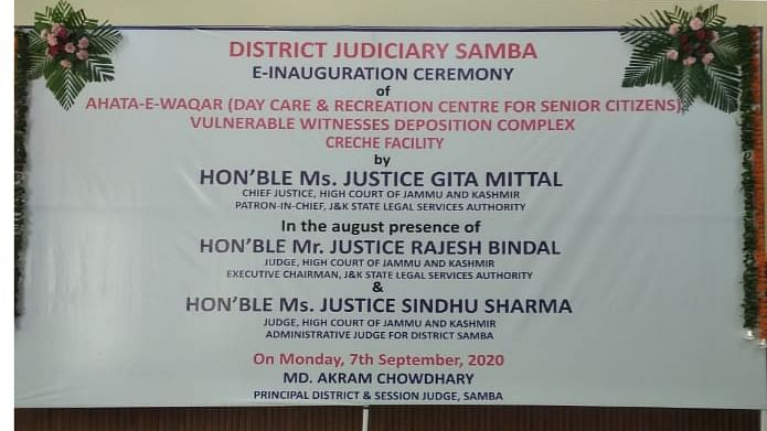 J&K HC Chief Justice Gita Mittal E-inaugurates Day Care-cum-Recreation Centre for senior citizens in J&K's Samba