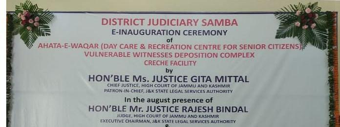 J&K HC Chief Justice Gita Mittal E-inaugurates Day Care-cum-Recreation Centre for senior citizens in J&K's Samba