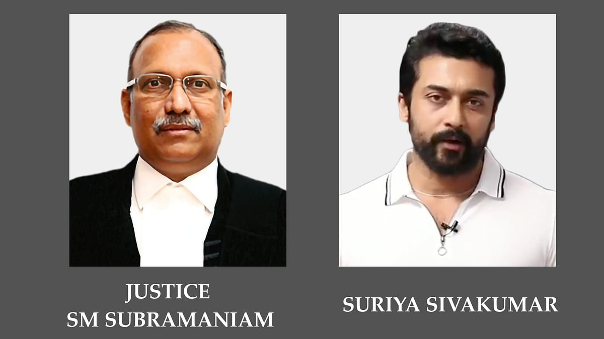 Actor Suriya's remarks on holding NEET amid pandemic amounts to criminal contempt: Justice SM Subramaniam writes to Madras HC Chief Justice