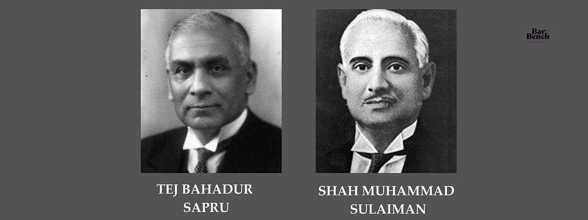 Tej Bahadur Sapru and Shah Muhammad Sulaiman