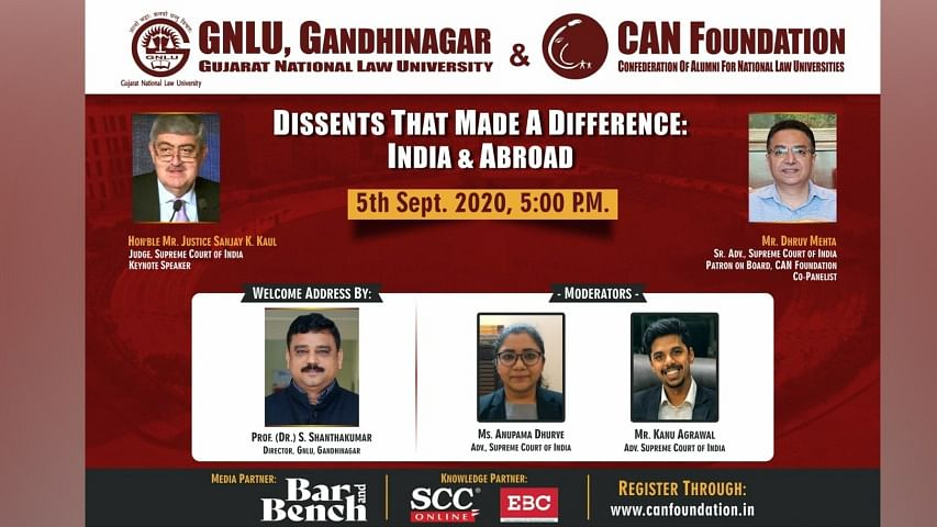 """Webinar Alert: Justice Sanjay Kishan Kaul, Senior Advocate Dhruv Mehta to speak on """"Dissents that made a difference"""""""