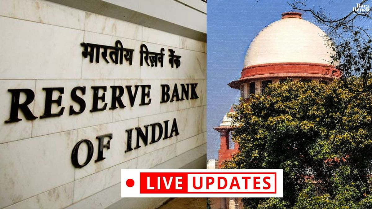 Plea challenging interest on loans during RBI Moratorium period: LIVE UPDATES from Supreme Court