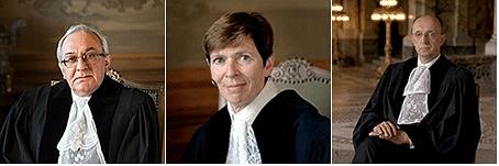 [L to R: H.E. Judge Gevorgian, H.E. Judge Donoghue, H.E. Judge Tomka; Courtesy: ICJ]