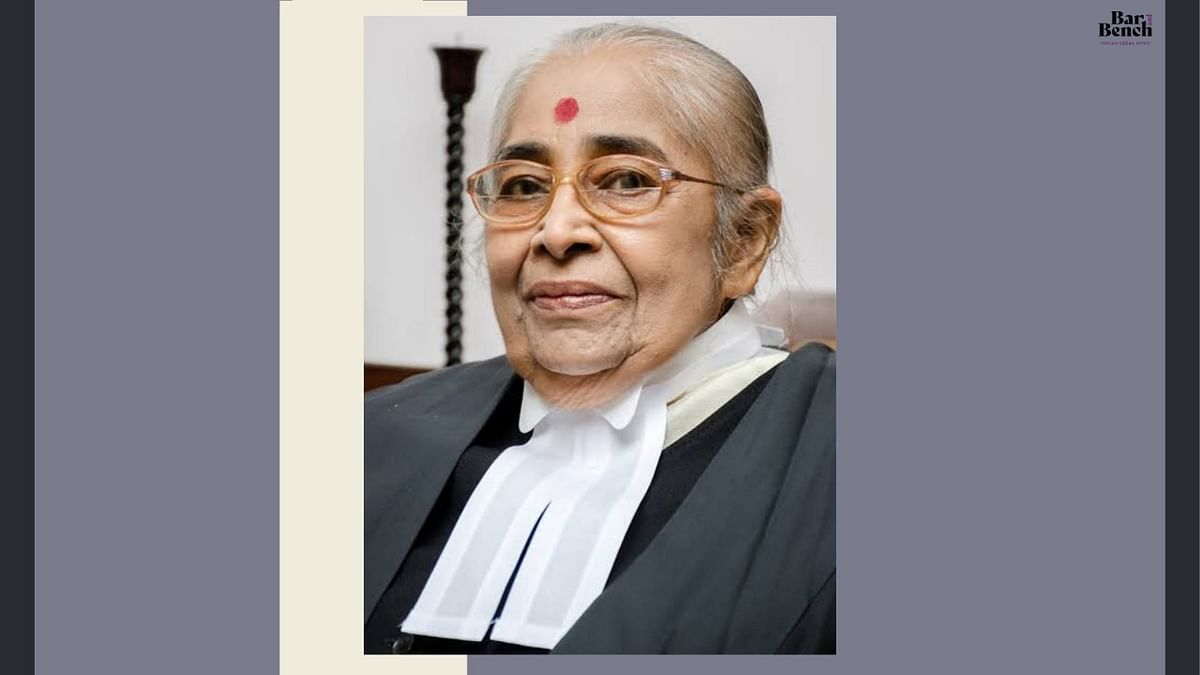 Former Chief Justice of the Kerala High Court Justice KK Usha no more