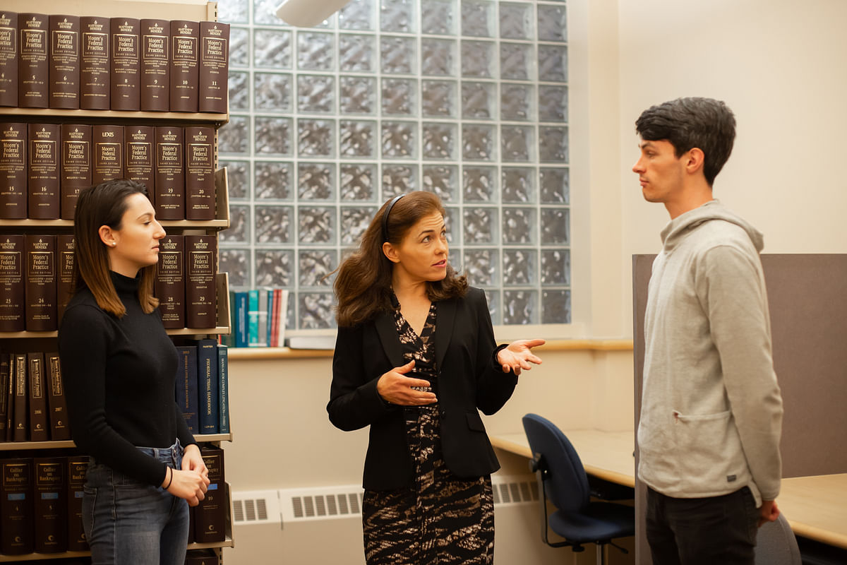 Prof. Lembree and students of UNH Law