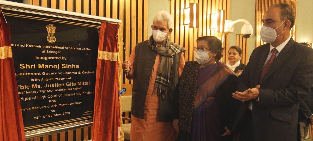 Chief Justice Gita Mittal and Manoj Sinha
