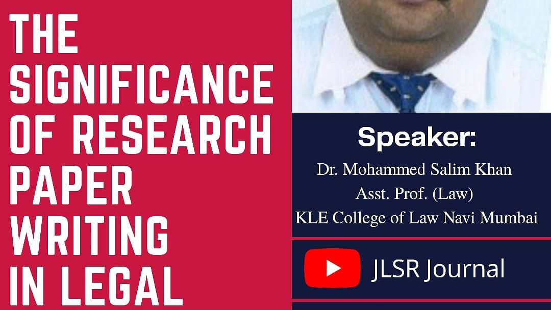 Webinar Alert:  Significance of Research papers for a legal career (Oct 18)