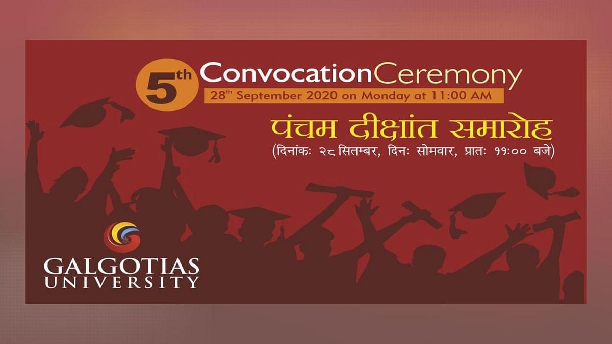 #Sponsored: 5th Convocation Ceremony of Galgotia University, 2020