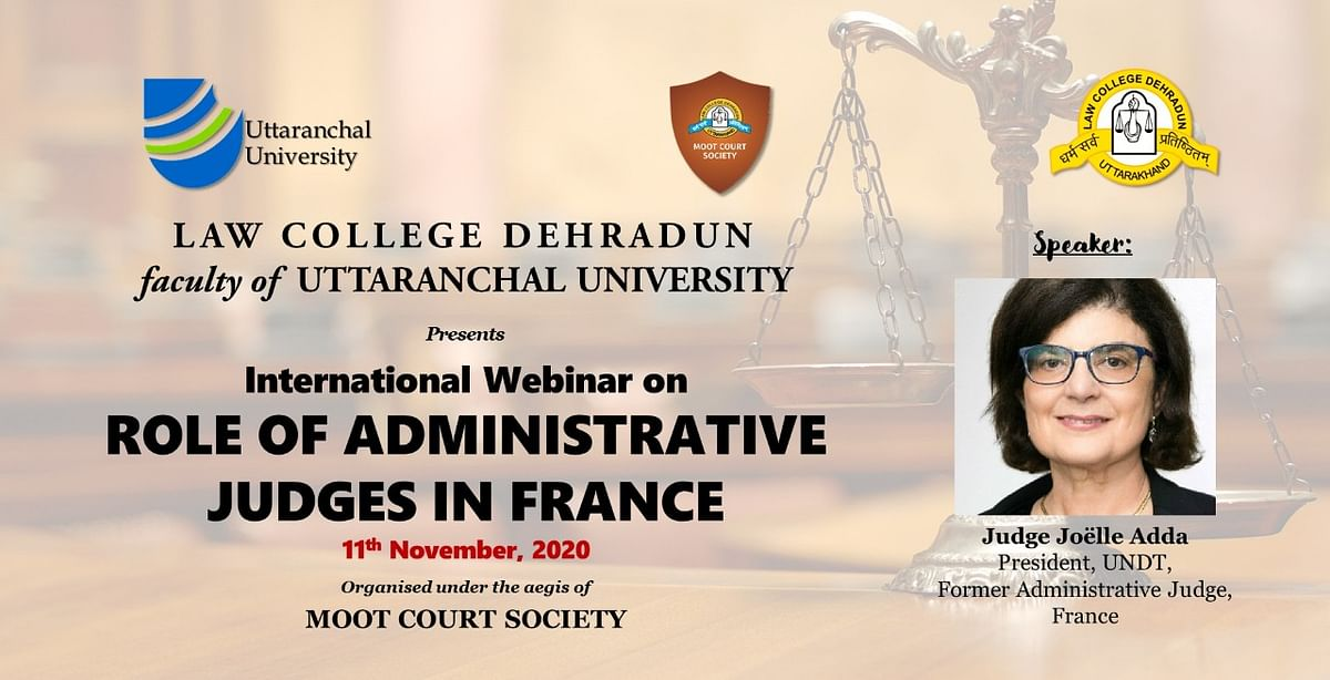 Webinar Alert: Judge Joelle Adda on the Role of Administrative Judges in France (Nov 11)