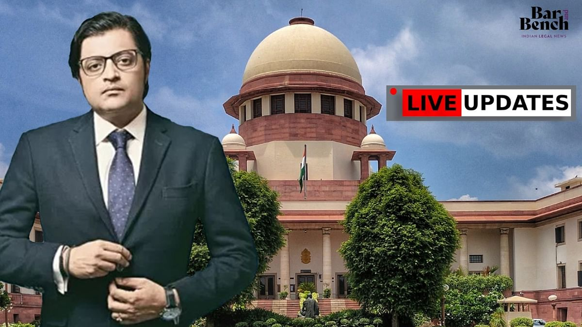 Supreme Court hears Arnab Goswami's plea challenging Maharashtra Assembly's breach of privilege notice against him [LIVE UPDATES]