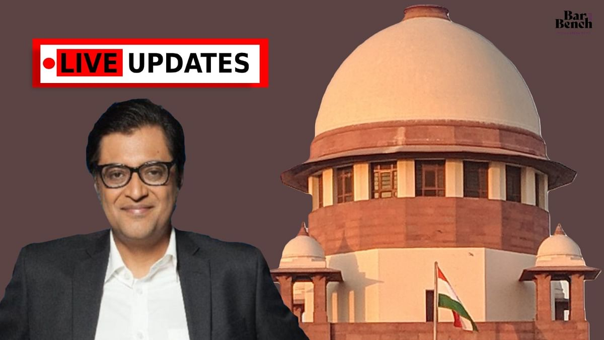 Supreme Court grants Arnab Goswami interim bail: Read LIVE ACCOUNT of court proceedings here
