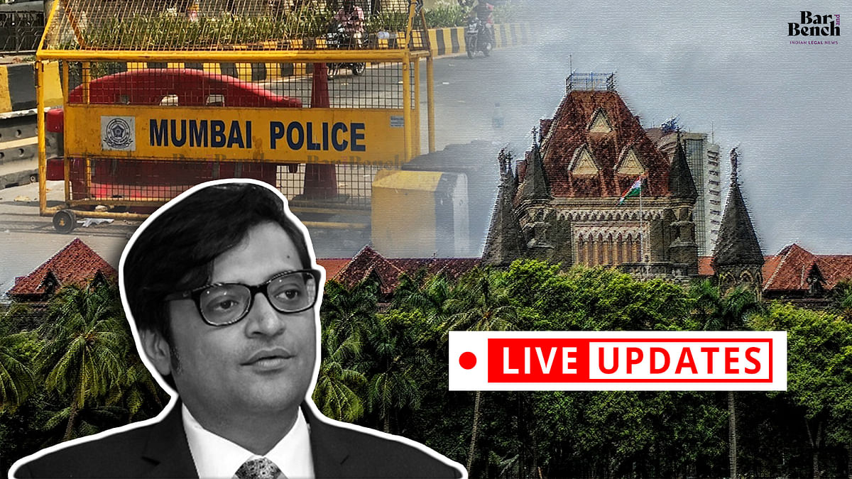 Bombay High Court hears Arnab Goswami's habeas corpus petition