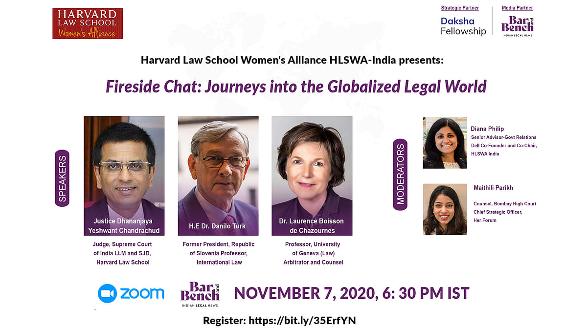 """Justice DY Chandrachud to speak at Harvard Law School event on """"Journeys into the Globalized Legal World"""" [Register]"""