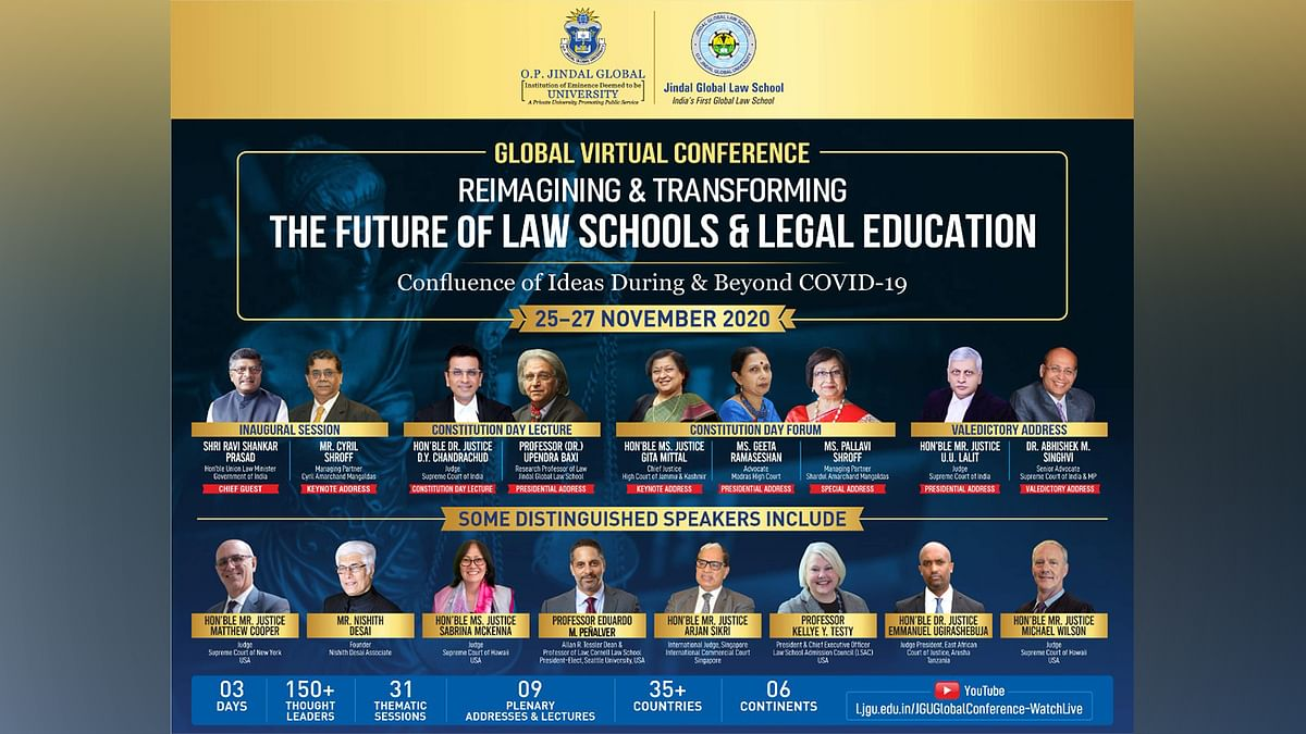 Law Minister to inaugurate JGLS Virtual Conference on 'Reimagining and Transforming the Future of Law Schools and Legal Education'