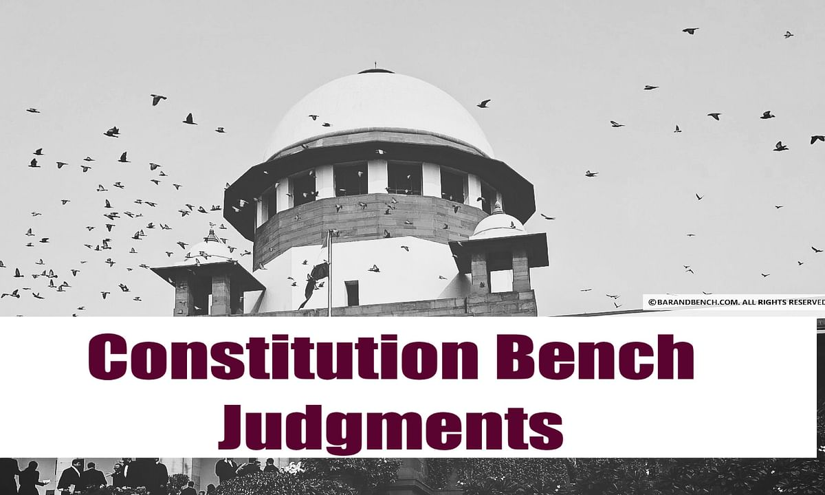 Constitution Bench Judgments 2020