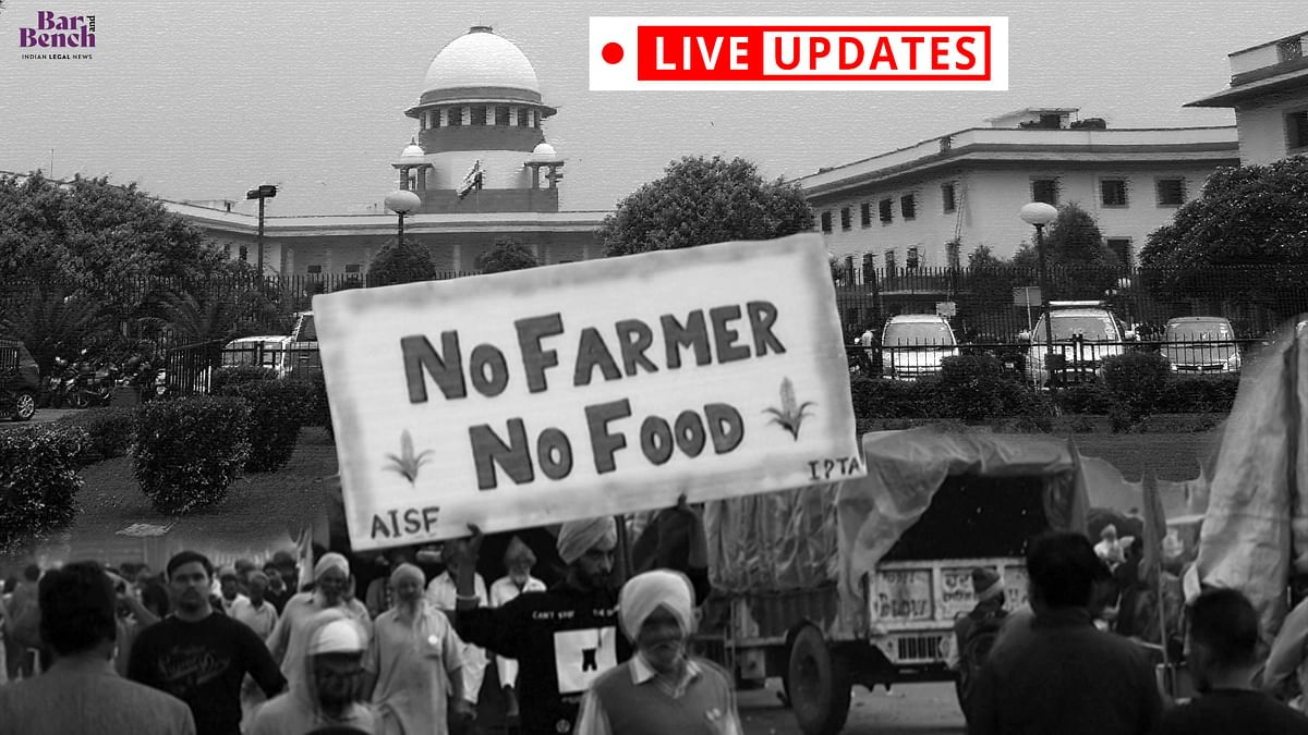 """[FARMERS PROTESTS] """"We are sympathetic to the cause:"""" - Live Updates from Supreme Court"""