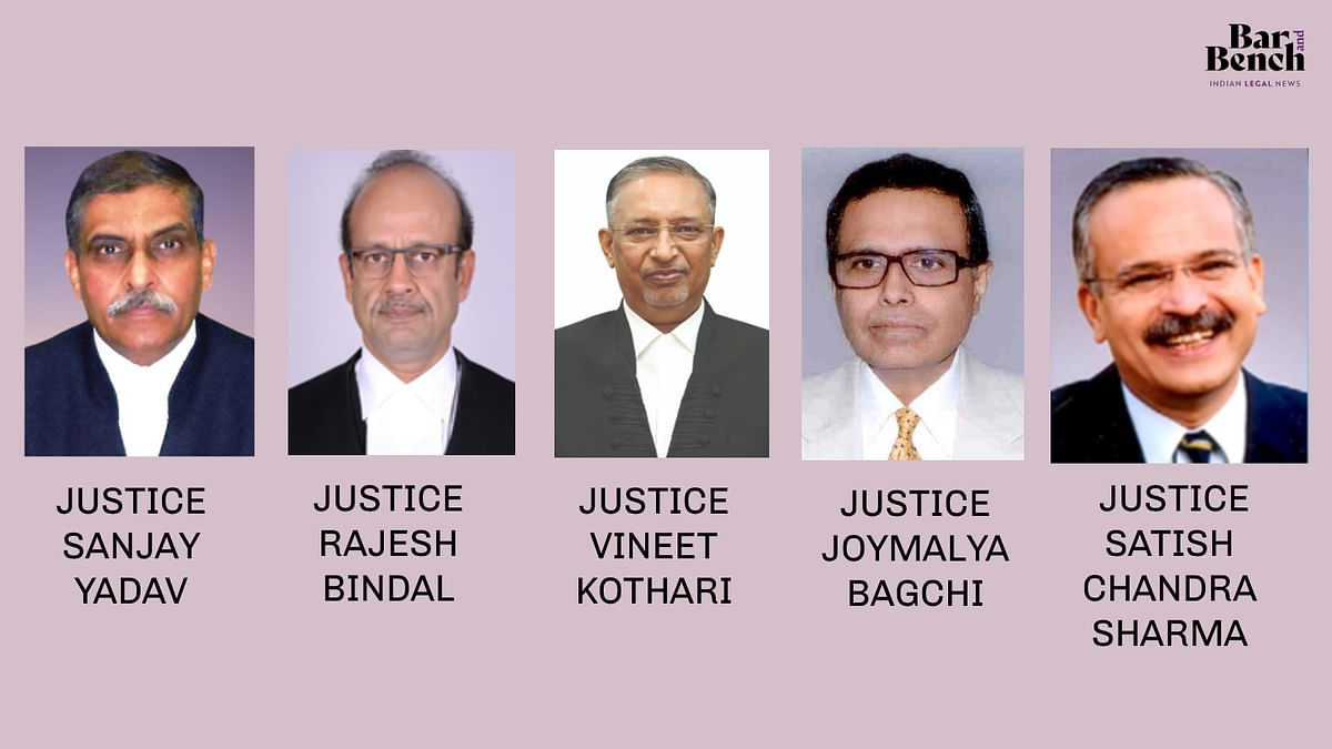 [Breaking] Supreme Court Collegium recommends transfer of five High Court Judges