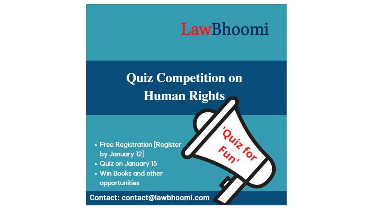 Register for this quiz on Human Rights by LawBhoomi