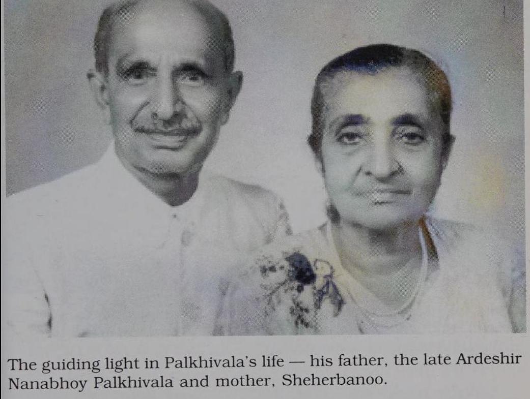 Nani Palkhivala's parents