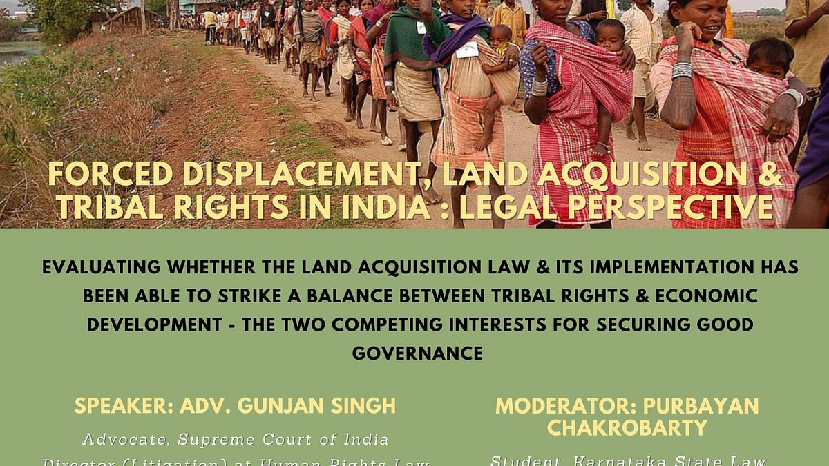 Webinar Alert: Land Acquisition Law & Tribal Rights with Adv. Gunjan Singh (Jan 31)
