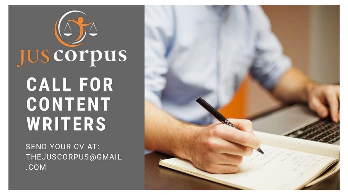 Internship Alert: Jus Corpus looking for Content Creators