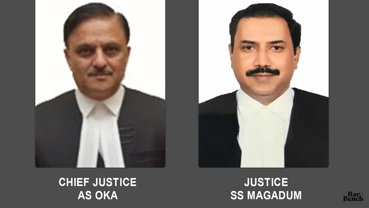 Chief Justice AS Oka and Justice SS Magadum