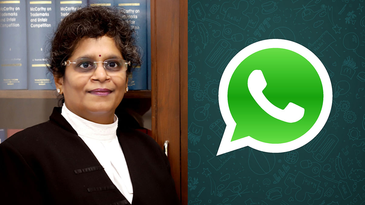 Justice Prathiba Singh and Whatsapp