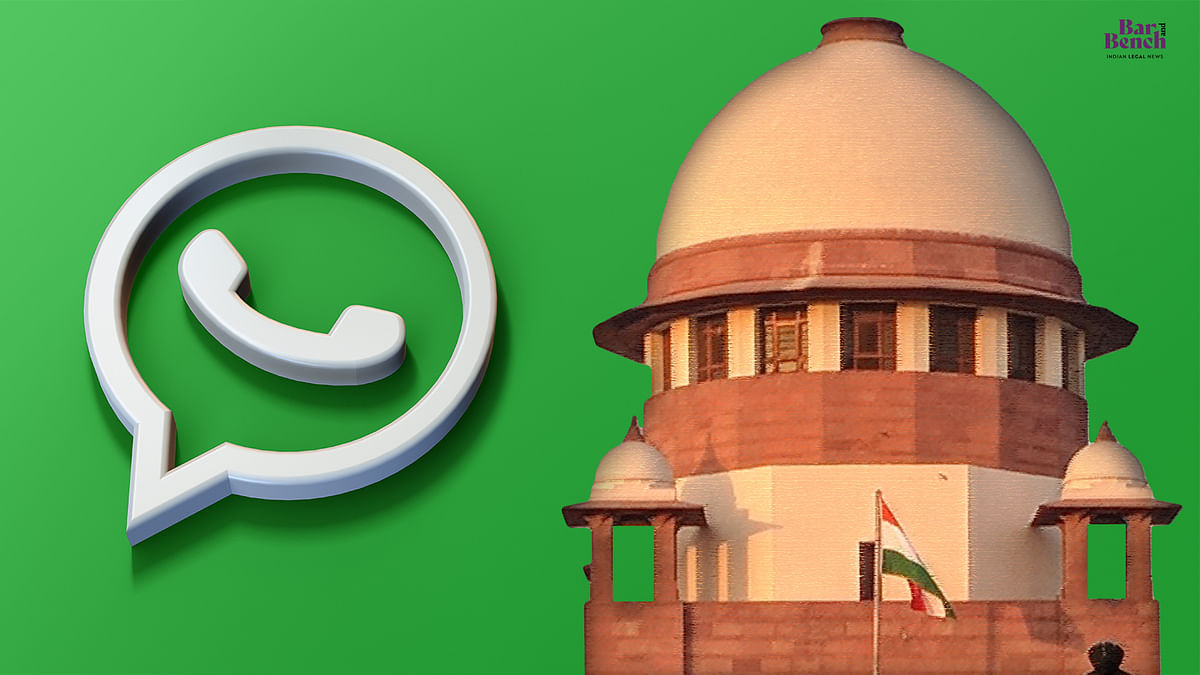 Supreme Court to stop using WhatsApp to share video conference links with lawyers in view of IT Rules notified by Govt to regulate social media