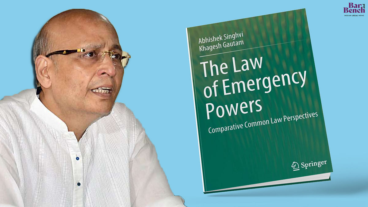 """[Book Launch] Supreme Court Judges to release book on """"The Law of Emergency Powers"""" by Dr AM Singhvi and Prof Khagesh Gautam"""