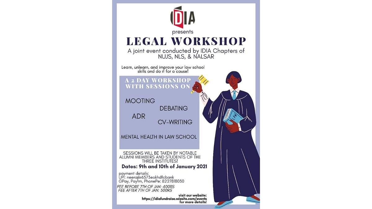 Attend: IDIA's 2-day Workshop on succeeding in law school (Jan 9-10)