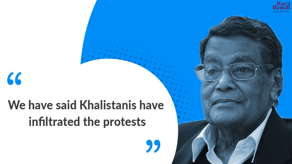 Khalistanis have infiltrated Farmers protests: Attorney General KK Venugopal