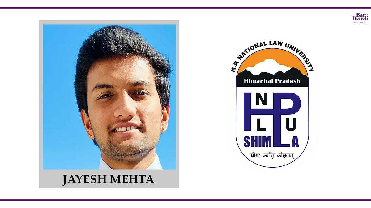 Know your Campus Ambassador: Jayesh Mehta, HPNLU