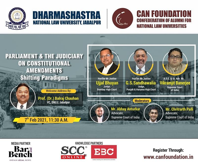 """Webinar Alert - Online Lecture on """"Parliament and the Judiciary on Constitutional Amendments"""" [Feb 7]"""