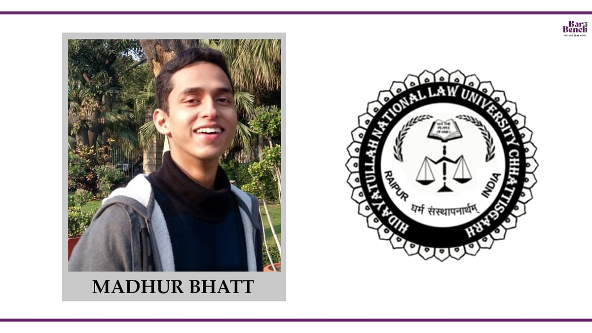 Know your Campus Ambassador: Madhur Bhatt, HNLU
