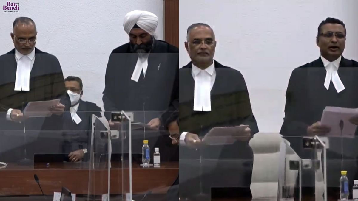 Justices Jasmeet Singh, Amit Bansal take oath as Judges of the Delhi High Court