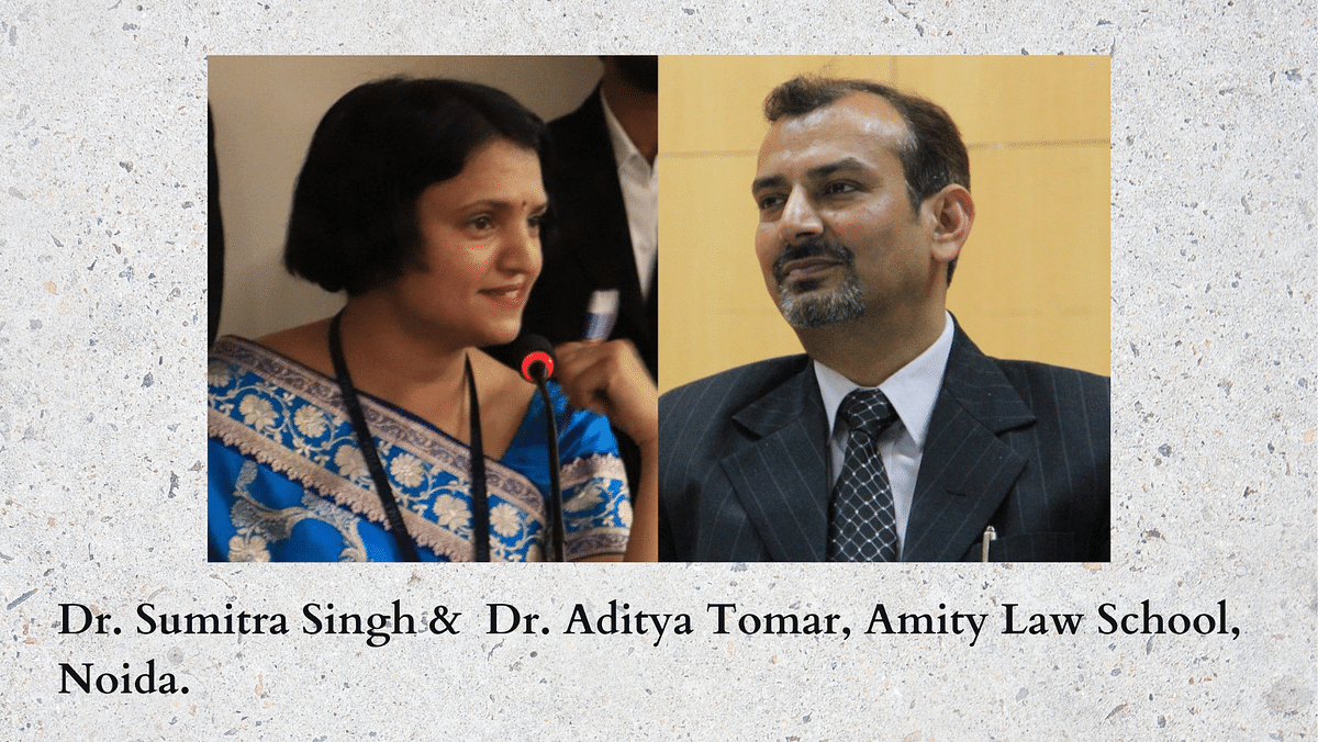 The Journalists: Dr. Aditya Tomar & Dr. Sumitra Singh, Amity Law School Noida