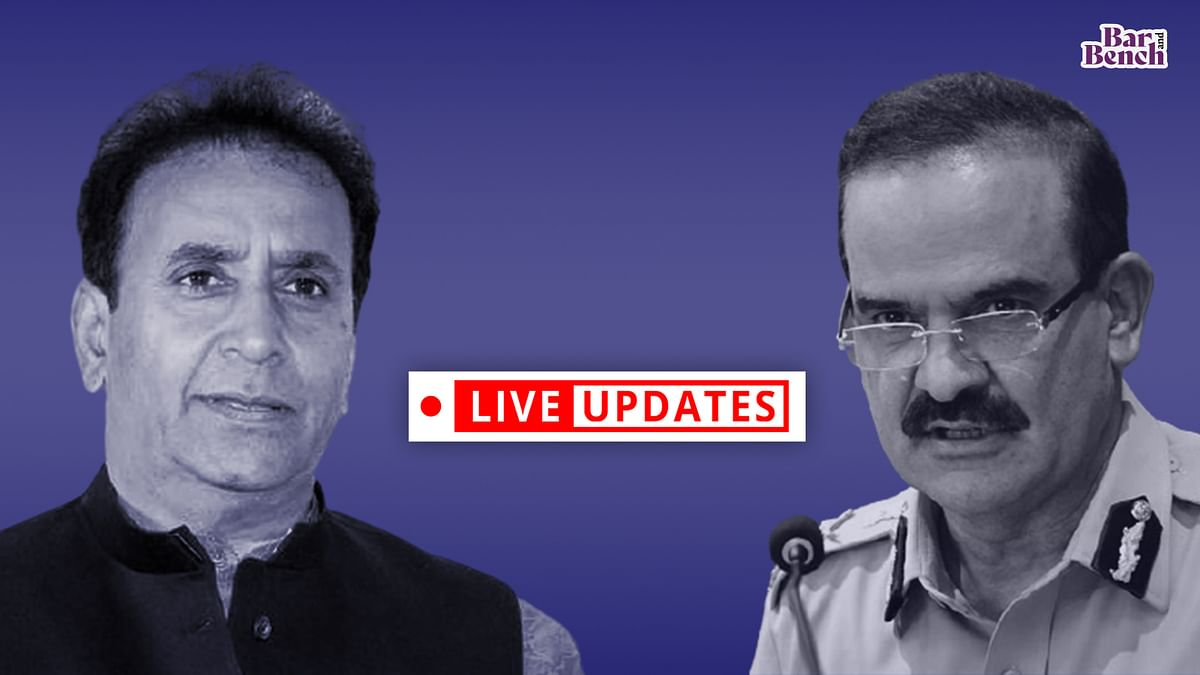 Challenge to HC direction for preliminary CBI probe into Param Bir Singh's allegations against Anil Deshmukh [LIVE from Supreme Court]