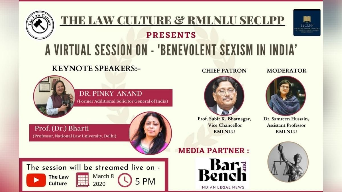 Webinar Alert: Discussion on Benevolent Sexism by Pinky Anand & Prof. Bharti