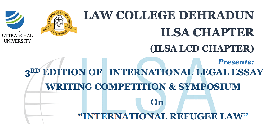 Participate: Law College Dehradun ILSA's Legal Essay Competition & Symposium