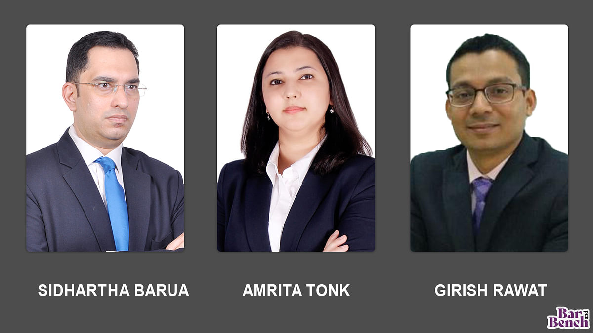 Amrita Tonk, Sidhartha Barua and Girish Rawat join L&L Partners