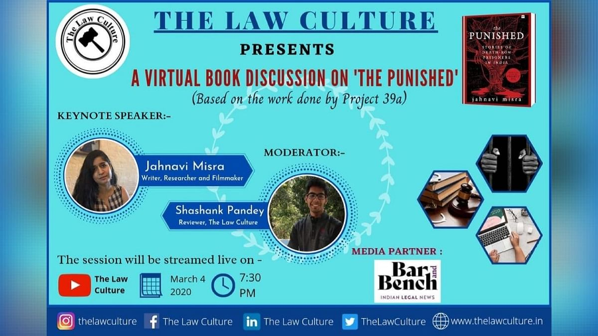 """Webinar Alert: The Law Culture's A Virtual Book Discussion on """"The Punished"""" by Jahnavi Misra (Mar 04)"""