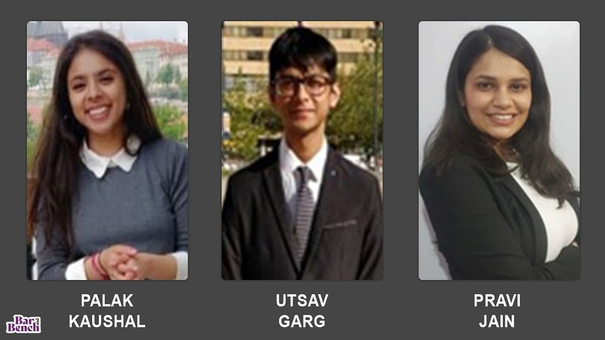 NLIU Bhopal Semi-Finalist - Palak Kaushal, Utsav Garg and Pravi Jain