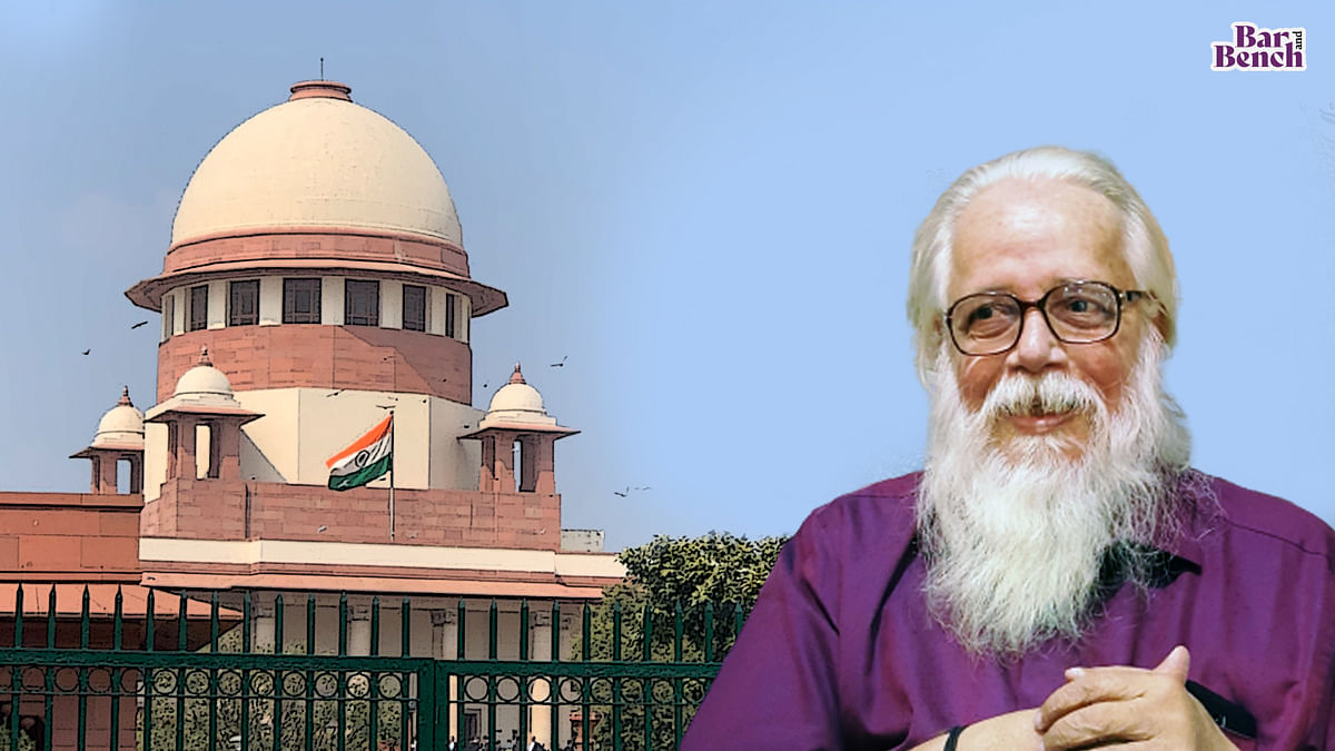 [BREAKING] Central govt urges Supreme Court to accept Justice DK Jain report in Nambi Narayanan case, take action against erring police officers