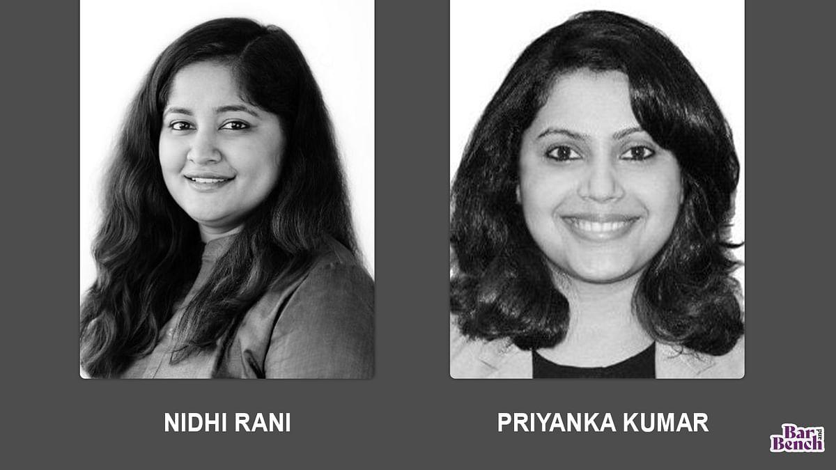 Talwar Thakore & Associates elects Nidhi Rani and Priyanka Kumar to partnership