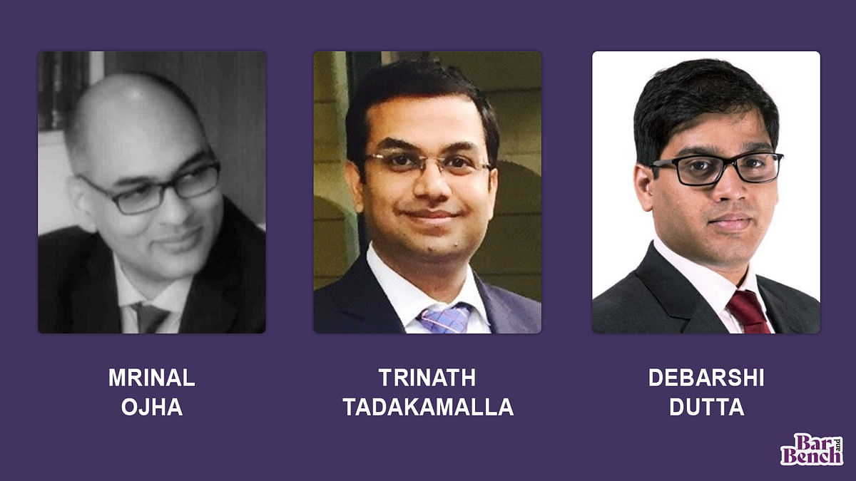 Phoenix Legal Partners Mrinal Ojha, Trinath Tadakamalla, Debarshi Dutta and team leave to set up Solaris Legal