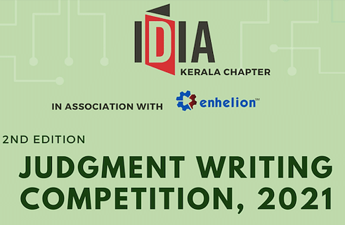 Participate: IDIA Kerala Chapter's 2nd Judgment Writing Competition (Register by Apr 25)