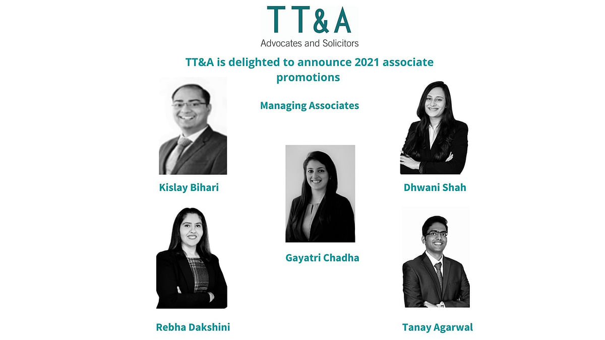[Promotions] 5 promoted to Managing Associate, 6 promoted to Senior Associate at TT&A, Mumbai